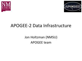 APOGEE-2 Data Infrastructure