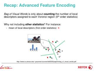 Recap: Advanced Feature Encoding