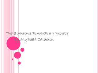 The Simpsons PowerPoint project