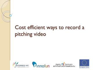 Cost efficient ways  to  record  a  pitching  video