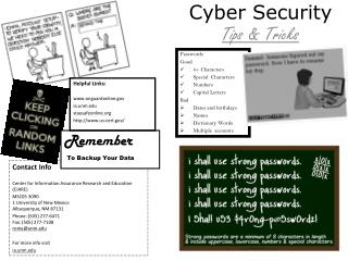 Cyber  Security  Tips & Tricks