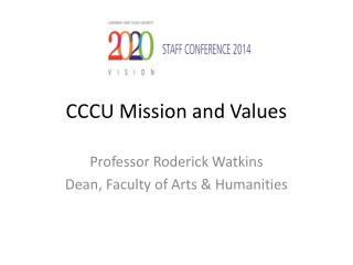 CCCU Mission and Values