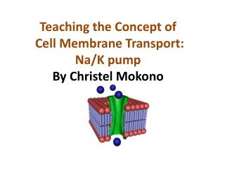 Teaching the  Concept of Cell Membrane  Transport: Na/K pump By  Christel Mokono