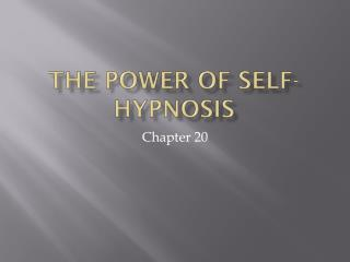 The power of self-hypnosis
