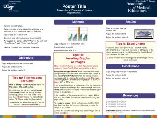 Poster Title Researchers ' /Presenters '  Names Department(s)