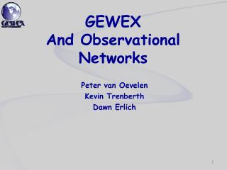 GEWEX  And Observational Networks