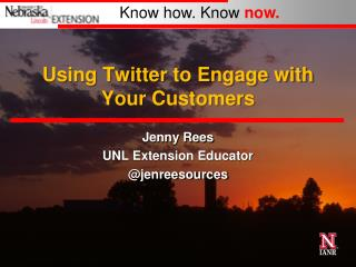 Using Twitter to Engage with Your Customers