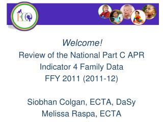 Welcome! Review of the National Part C APR Indicator 4 Family Data FFY 2011 (2011-12)