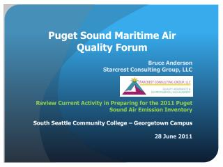 Puget Sound Maritime Air Quality Forum