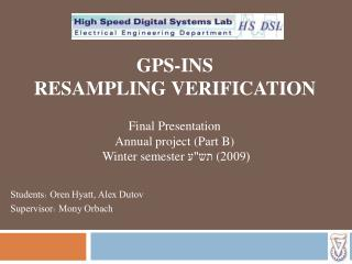 GPS-INS resampling  VERIFICATION