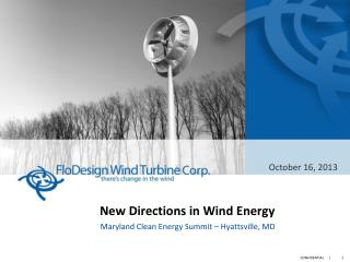 New Directions in Wind  Energy