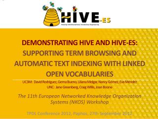 The 11th European Networked Knowledge Organization Systems (NKOS) Workshop