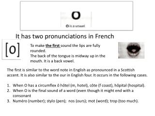 It has two pronunciations in French