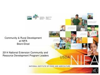 Community & Rural Development at NIFA Brent Elrod