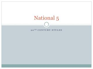 National 5