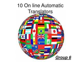 10 On line Automatic Translators
