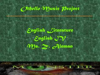 Othello  Music Project