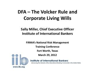 FIRMA's National Risk Management Training Conference Fort Worth, Texas March 29, 2012