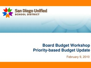 Board Budget Workshop Priority-based Budget Update