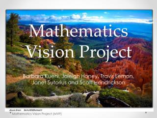 Mathematics Vision Project