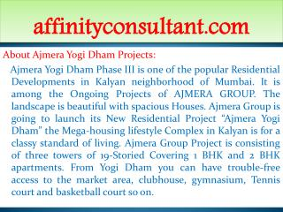 New Projects Kalyan ||+91-9999684166|| Ajmera Yogi Dham