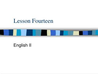 Lesson Fourteen