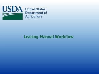 Leasing Manual Workflow