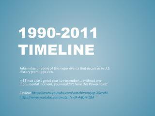 1990-2011 Timeline