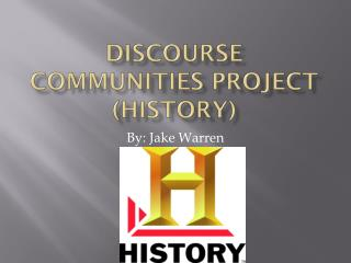 DISCOURSE Communities Project (history)