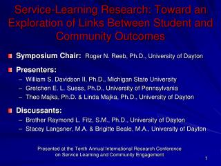 Service-Learning Research: Toward an Exploration of Links Between Student and Community Outcomes