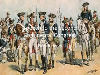 Speech to the Second Continental Congress
