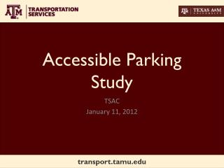 Accessible Parking Study