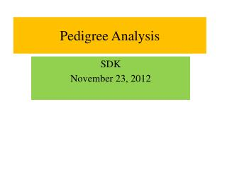 Pedigree Analysis