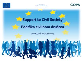 SUPPORT TO CIVIL SOCIETY