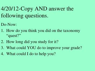 4/20/12-Copy  AND answer the following questions.