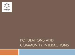Populations and community interactions