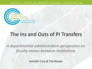 The Ins and Outs of PI Transfers