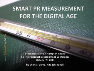 SMART PR MEASUREMENT  FOR THE DIGITAL AGE