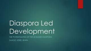 Diaspora Led Development