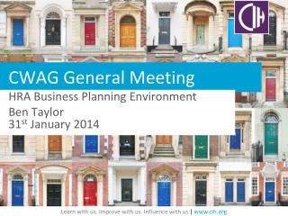CWAG General Meeting