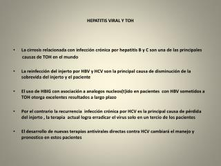 HEPATITIS VIRAL Y TOH