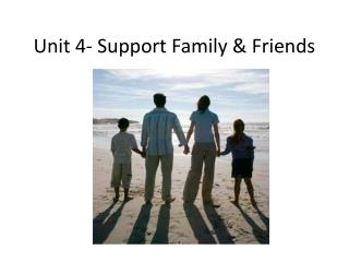 Unit 4- Support Family & Friends