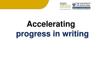 Accelerating  progress in writing
