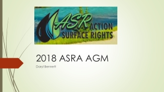2018 ASRA AGM
