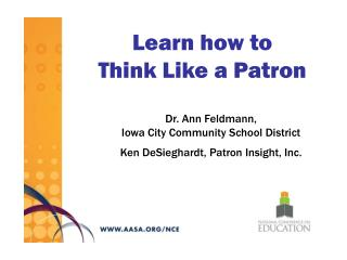 Learn how to  Think Like a Patron