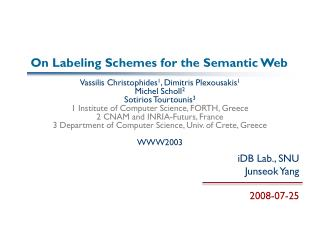 On Labeling Schemes for the Semantic Web