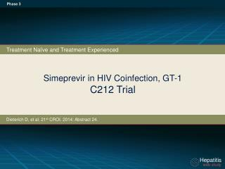Simeprevir  in  HIV Coinfection,  GT-1 C212 Trial