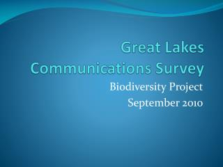 Great Lakes Communications Survey
