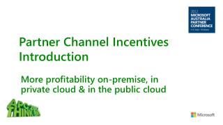Partner Channel Incentives Introduction