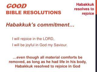 Good Bible resolutions